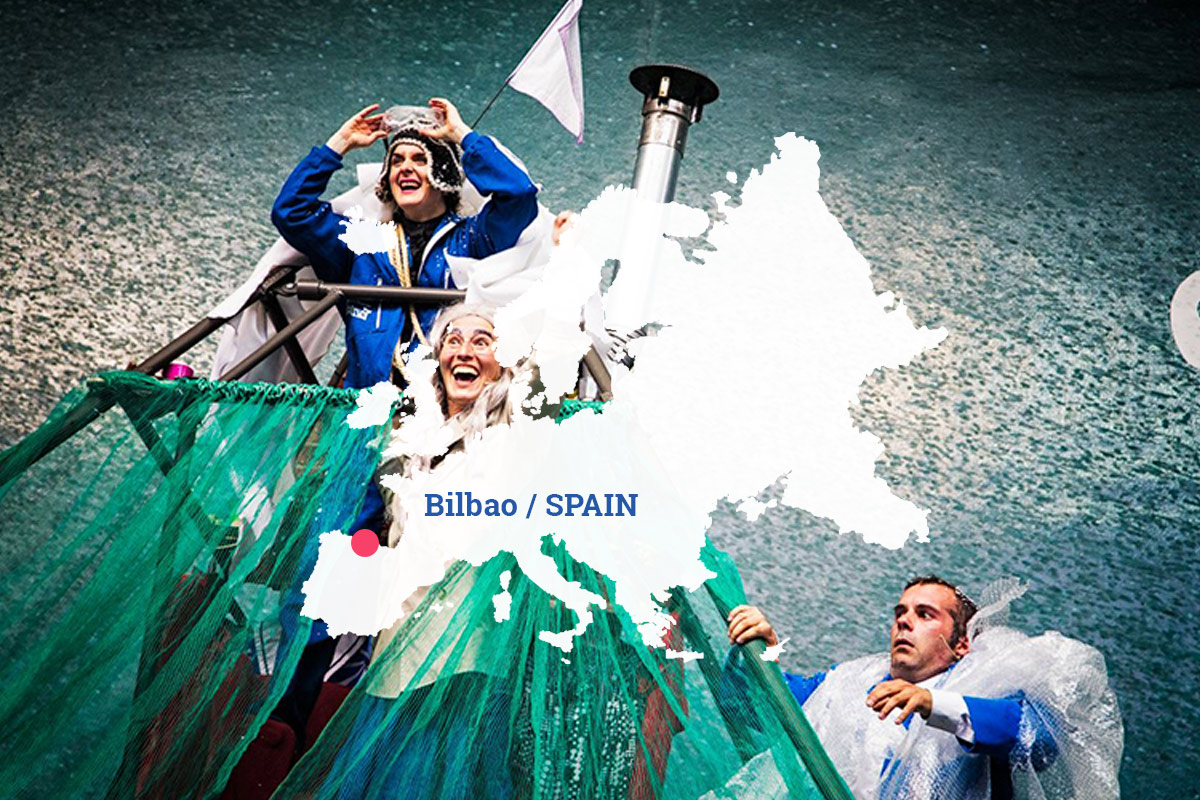 Street Theater Festival in BILBAO - Mauerspringer project